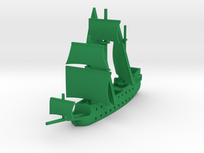 1/1000 Pirate Ship in Green Strong & Flexible Polished