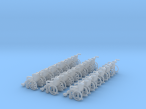 Wheelchair 01.  N Scale (1:160) in Frosted Ultra Detail