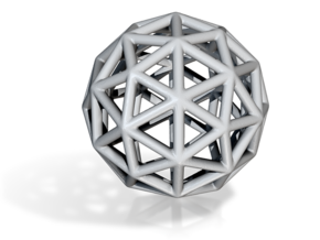 DRAW geo - sphere triangles A in White Strong & Flexible