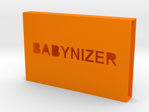 a Card Case Part 1 in Orange Strong & Flexible Polished
