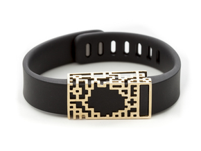 Lucas slide for Fitbit Flex in 14K Gold