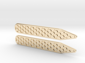 Honeycomb Inverse Collier Straighteners  in 14K Gold