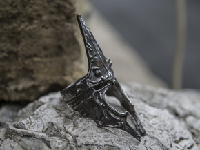 Witch King ring size 9.5 US in Matte Black Steel