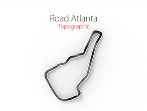 Road Atlanta | Topographic Large in Full Color Sandstone