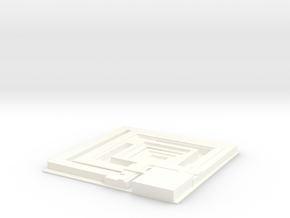 Tile from Bladerunner Deckard Appartement Movie 19 in White Strong & Flexible Polished