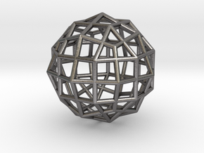 0494 Rhombicuboctahedron + Dual in Polished Nickel Steel