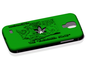 Galaxy S4 Washington Marijuana Leaf in Green Strong & Flexible Polished