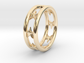 Ring Of Linestars 14.5 mm Size 3 0.5 in 14K Gold