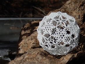 Snowflakes with Stars 2 in White Strong & Flexible