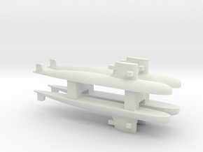PLA[N] 039G Submarine x 4, 1/2400 in White Strong & Flexible