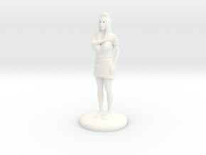 Terrrified Nurse 25 mm in White Strong & Flexible Polished