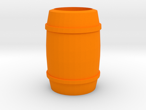 """Barrel"" - A Monopoly figure in Orange Strong & Flexible Polished"