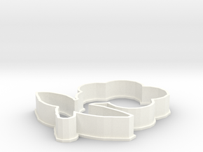 Cartoon Flower Cookie Cutter in White Strong & Flexible Polished