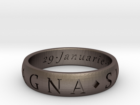 Sir Francis Drake, Sic Parvis Magna Ring Size 13.5 in Stainless Steel