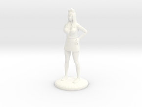 Nurse with Needle - 25 mm version in White Strong & Flexible Polished