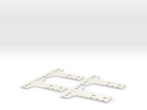 Kyosho MiniZ MR03 T-Plates in White Strong & Flexible