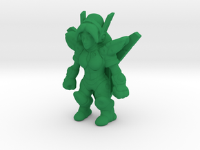 GynoidGuardian Keshi in Green Strong & Flexible Polished