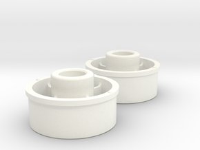 Kyosho Mini-Z Front Wheel +3 Offset in White Strong & Flexible Polished