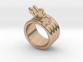 Love Forever Ring 31 - Italian Size 31 in 14k Rose Gold Plated