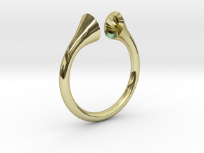 Gramaphonic Sharp Ring d=18,5 mm(all sizes on dema in 18k Gold Plated