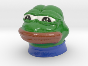 Sad Frog (Feels bad man)  in Coated Full Color Sandstone