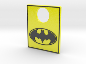 Pinball Plunger Plate - Classic Batman in Coated Full Color Sandstone