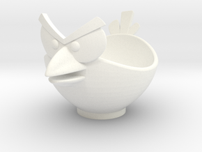 Bird Egg Cup in White Strong & Flexible Polished