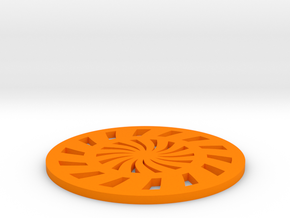 Coaster-3 in Orange Strong & Flexible Polished