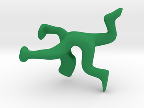 Hollow Back in Green Strong & Flexible Polished