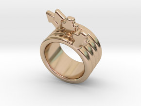 Love Forever Ring 33 - Italian Size 33 in 14k Rose Gold Plated
