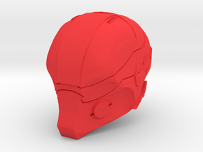 1:6 Scale Red Mask in Red Strong & Flexible Polished