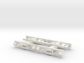 On18 trucks straight top diamond frame - 20mm axle in White Strong & Flexible