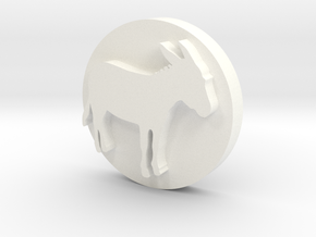 Donkey Soap Stamp in White Strong & Flexible Polished
