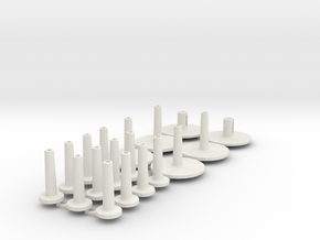 Pole Fittings for Carbon rods. in White Strong & Flexible