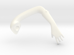 Beast Dancer Arm Left in White Strong & Flexible Polished
