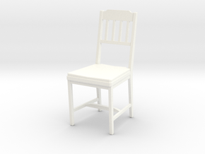 Chair 04. 1:24 Scale in White Strong & Flexible Polished