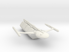 Civilian Modular Freighter with Two Hexagonal Pods in White Strong & Flexible