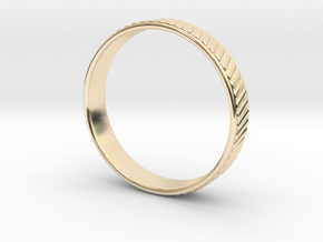 Ø0.768 inch Ø19.51 Corrugated Ring in 14k Gold Plated