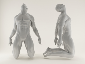 2016005-Strong man scale 1/10 in White Strong & Flexible Polished