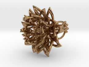 Ring the Chrysanthemum / size 6 US (16,5 mm) in Polished Brass