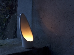 Calla - Tea Light in Gloss White Porcelain