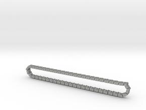 Track Necklace L 591 in Raw Aluminum