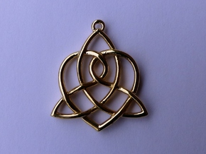 Sisters Knot Pendant in Polished Brass