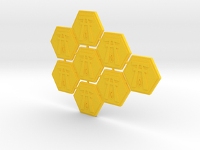 Order tokens Sprue - Elves faction (8 pcs) in Yellow Strong & Flexible Polished