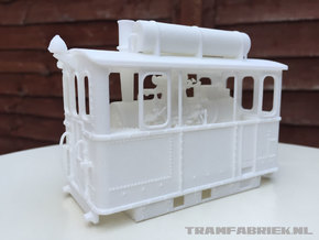 Gooische Stoomtram 18 'Leeghwater' in 1:45 in White Strong & Flexible Polished