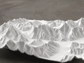 8''/20cm Baltoro Glacier and K2, WSF in White Strong & Flexible
