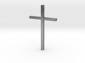 Cross in Raw Silver
