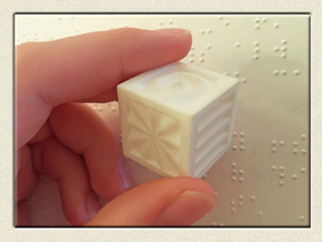 Quadruplets! Tactile Texture Dice, hollow in White Strong & Flexible Polished