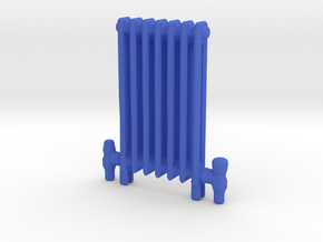 Radiator Floor Mounted Scale model in Blue Strong & Flexible Polished