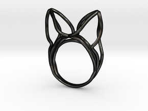 The Ears Ring / size 6US (16.5mm) in Matte Black Steel